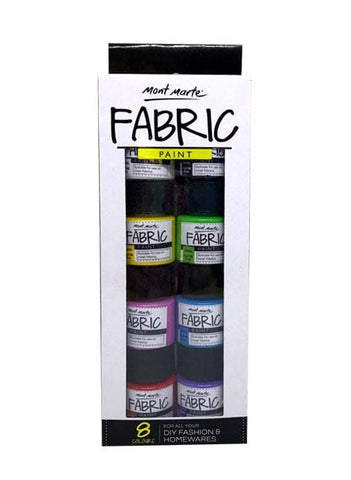 Mont Marte Studio Paint Fabric Paint Set - Mont Marte Fabric Paint Set Chalk Painting Stencils Australia