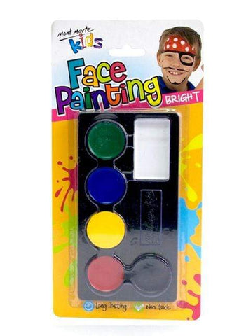 Mont Marte Studio Paint Face Paint Set Neon - Mont Marte DS - Face Paint Set - Bright Chalk Painting Stencils Australia