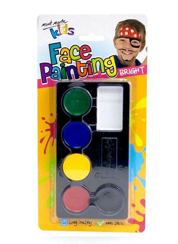 Mont Marte Studio Paint Face Paint Set Neon - Mont Marte Face Paint Set - Bright Chalk Painting Stencils Australia