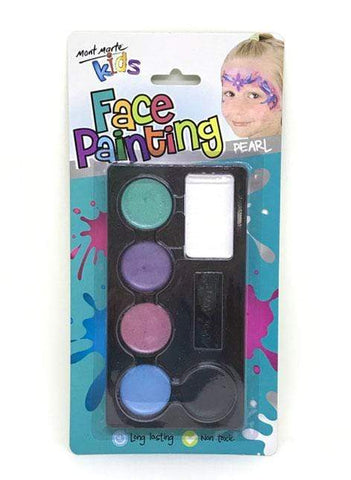 Mont Marte Studio Paint Face Paint Set Pearl - Mont Marte DS - Face Paint Set - Pearl Chalk Painting Stencils Australia