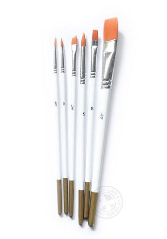 Fine Art Paint Brushes 6 Pack - My Stencil Lady Australian Made Stencils Mandala Vintage Craft Scrapbooking