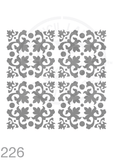 My Stencil Lady Stencil XLarge - 4up - 285mm Full Cutout (Sheet Size 300x300mm) Stencil 226 Chalk Painting Furniture Decor Stencils