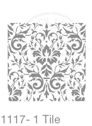 My Stencil Lady Stencil XLarge Sq 1 Tile - 285mm Cutout (Sheet Size 300x300mm) Stencil 1117 Chalk Painting Furniture Decor Stencils