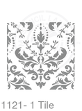My Stencil Lady Stencil XLarge Sq 1 Tile - 285mm Cutout (Sheet Size 300x300mm) Stencil 1121 Chalk Painting Furniture Decor Stencils