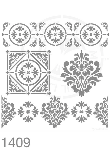 My Stencil Lady Stencil Stencil 1409 Chalk Painting Furniture Decor Stencils
