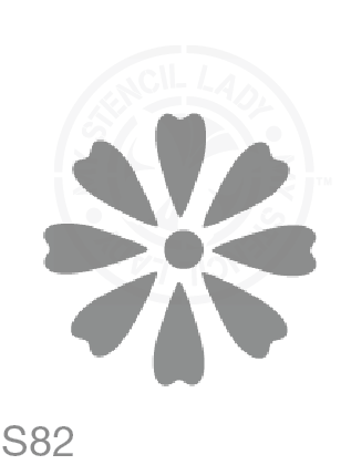 My Stencil Lady Stencil Small - 80mm Design (Sheet Size 95x95mm) Stencil S82 Chalk Painting Furniture Decor Stencils