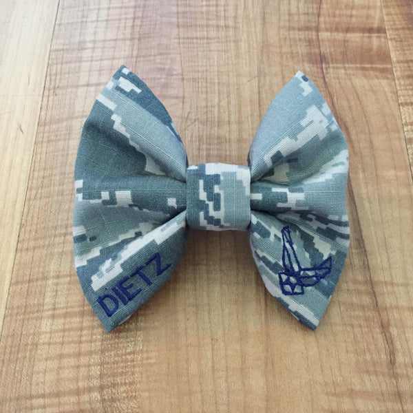 Air Force ABU Classy Corner Bow with Embroidered Logo Wings