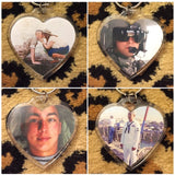 Camo Initial and Photo Heart Keychain (all branches)
