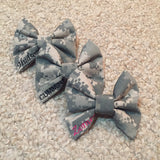 Army ACU (old Army uniform) Classy Corner Bow