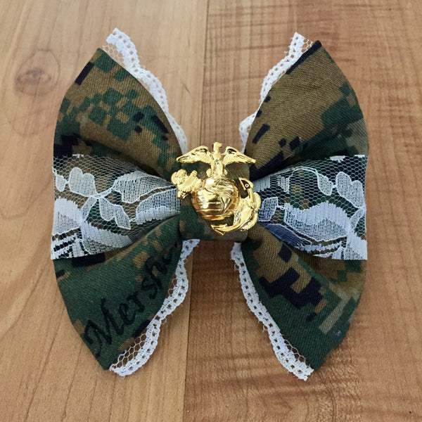 Marines Deluxe Lace and EGA Woodlands Bow