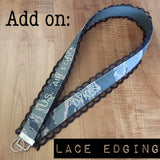 Lace Edging Add On (wristlets/lanyards sold separately)