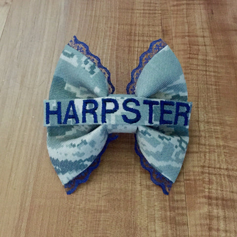 Air Force Navy Lace ABU Nametape Bow