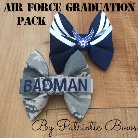 Air Force Graduation Bow Pack