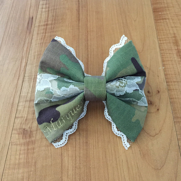 Army Deluxe Lace Multicam OCP Bow