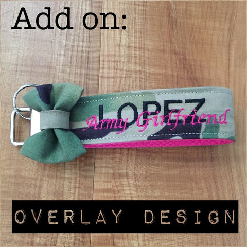 Overlay Design Fee (Wristlets/Lanyards sold separately)