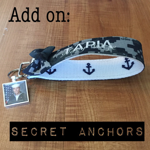 Hidden Anchors for Wristlets/Lanyards (wristlets/lanyards sold separately)