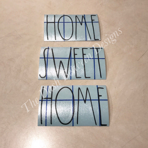 Rae Dunn Inspired HOME SWEET HOME Decals