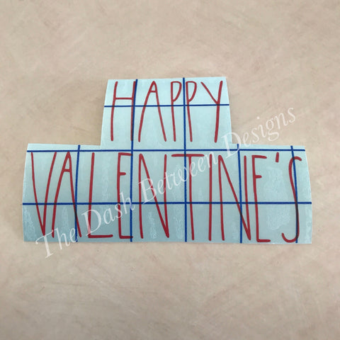 Rae Dunn inspired HAPPY VALENTINE'S Decal