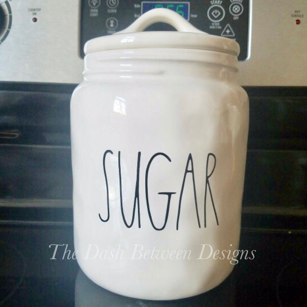 Rae Dunn Inspired Big SUGAR Decal
