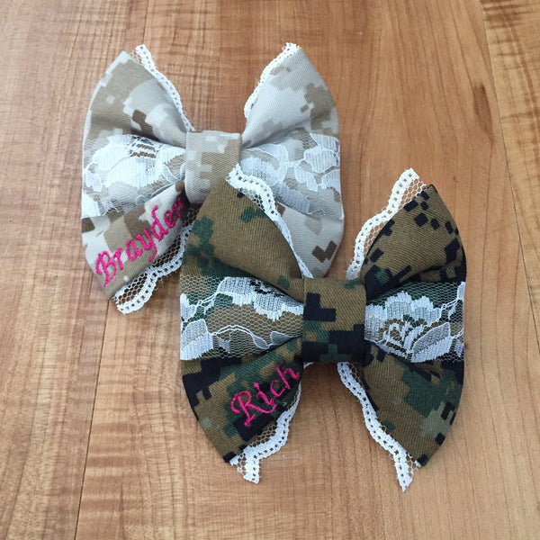 Marines Desert and Woodlands Deluxe Lace Bow Pack