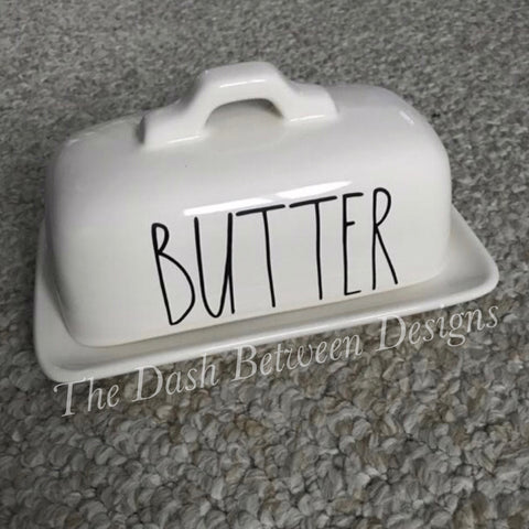 Rae Dunn Inspired BUTTER Decal