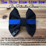The Thin Blue Line Bow (Police/Law enforcement)