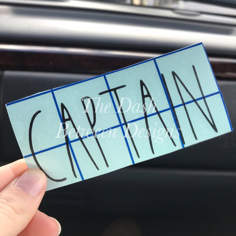 Rae Dunn Inspired CAPTAIN Decal