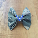 Air Force ABU Classy Corner Bow with Air Force Wings