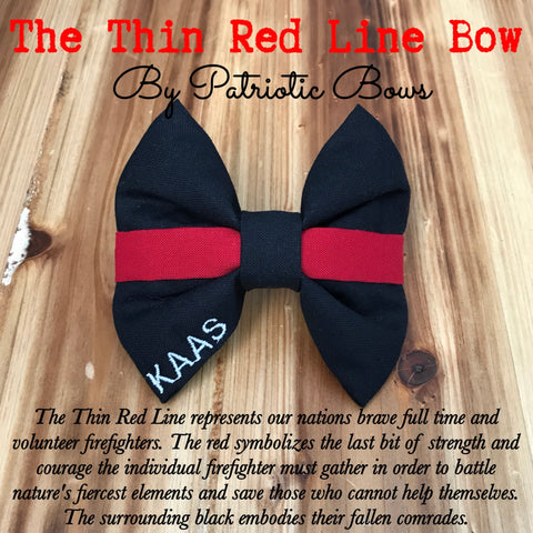 The Thin Red Line Firefighter Bow