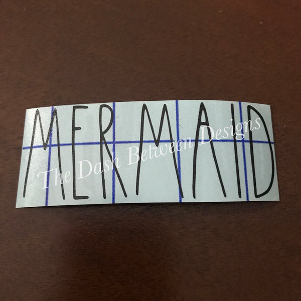 Rae Dunn Inspired MERMAID Decal
