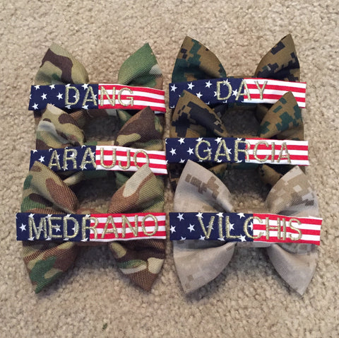 Standard Camo Bow with Flag Nametape (all branches)