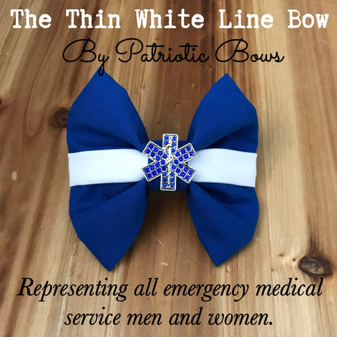 The Thin White Line EMT Medical Responder Bow