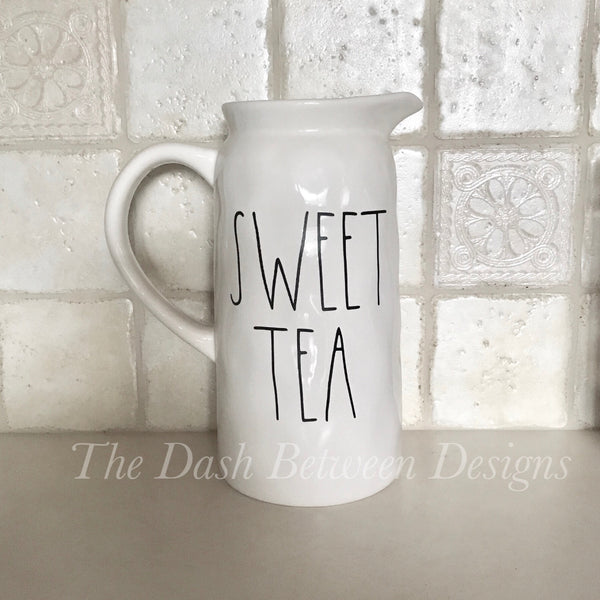 Rae Dunn Inspired SWEET TEA Decal