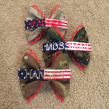 Lace Camo Bow with Flag Nametape (all branches)