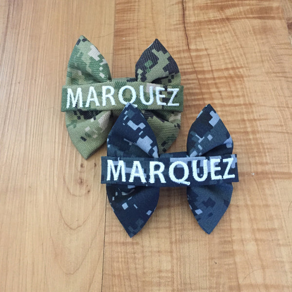 U.S. Navy Digi Blue and Type 3 Camo Nametape Bow Pack