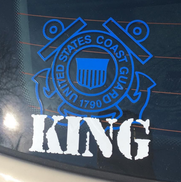 Personalized Coast Guard Decal