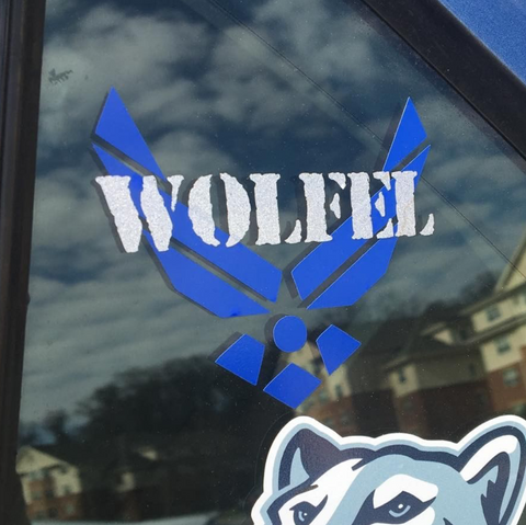 Personalized Air Force Decal