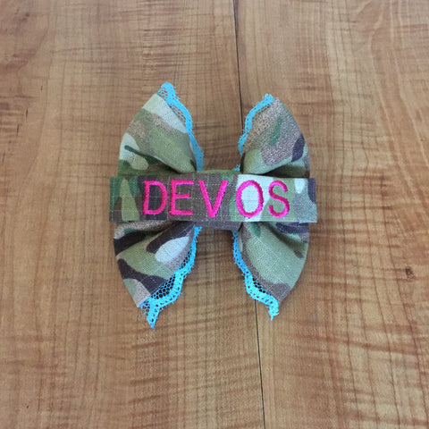 Colorful Lace Nametape Bow (all branches)