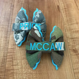 Blue Lace Army ACU or OCP Nametape Bow