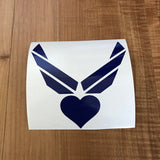 Branch Logo with Heart Cut Out Decal