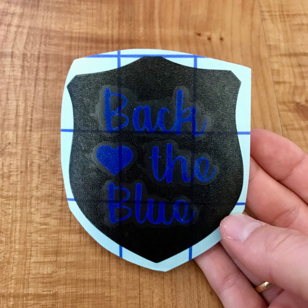 Back the Blue Police Badge Decal