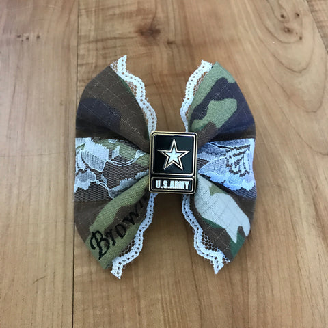 Army Deluxe Lace Multicam OCP Bow with Army Logo