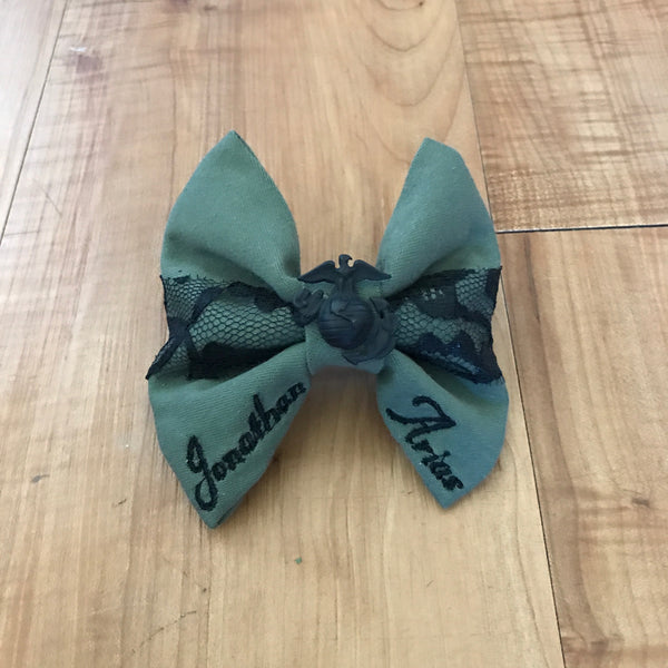 Marines Olive and Lace with EGA Bow