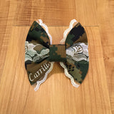 Marines Deluxe Lace Woodlands Bow
