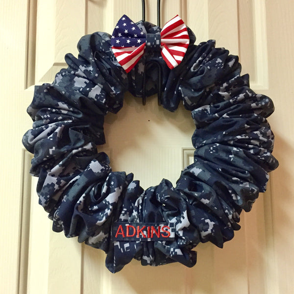 Flag 2.0 Nametape Camo Wreath (all branches)