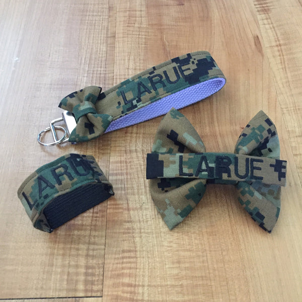 Standard Nametape Bow, Wristlet, and Bracelet Bundle (all branches)