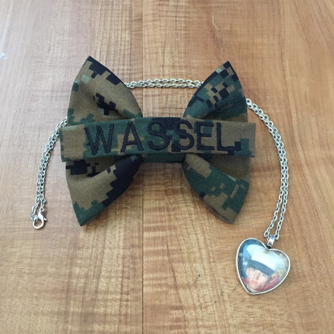 Nametape Bow and Photo Necklace Bundle (all branches)