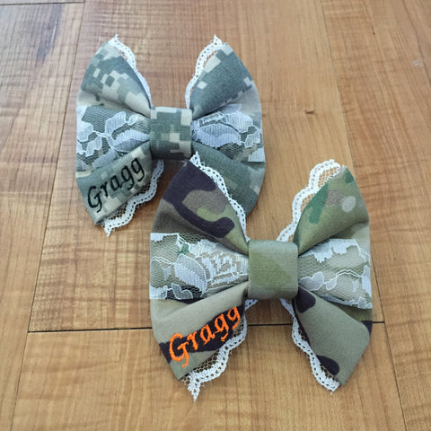 Army ACU and Multicam OCP Deluxe Lace Bow Pack