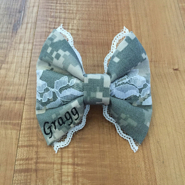 Army Deluxe Lace ACU (old Army uniform) Bow