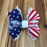 Deluxe Lace Flag Bow